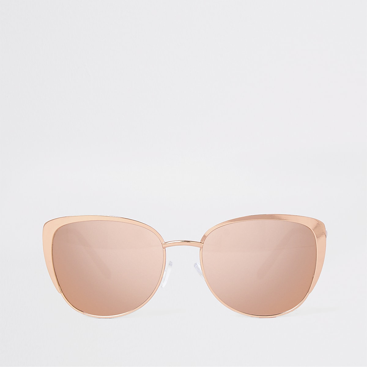 Gold tone cat eye sunglasses
