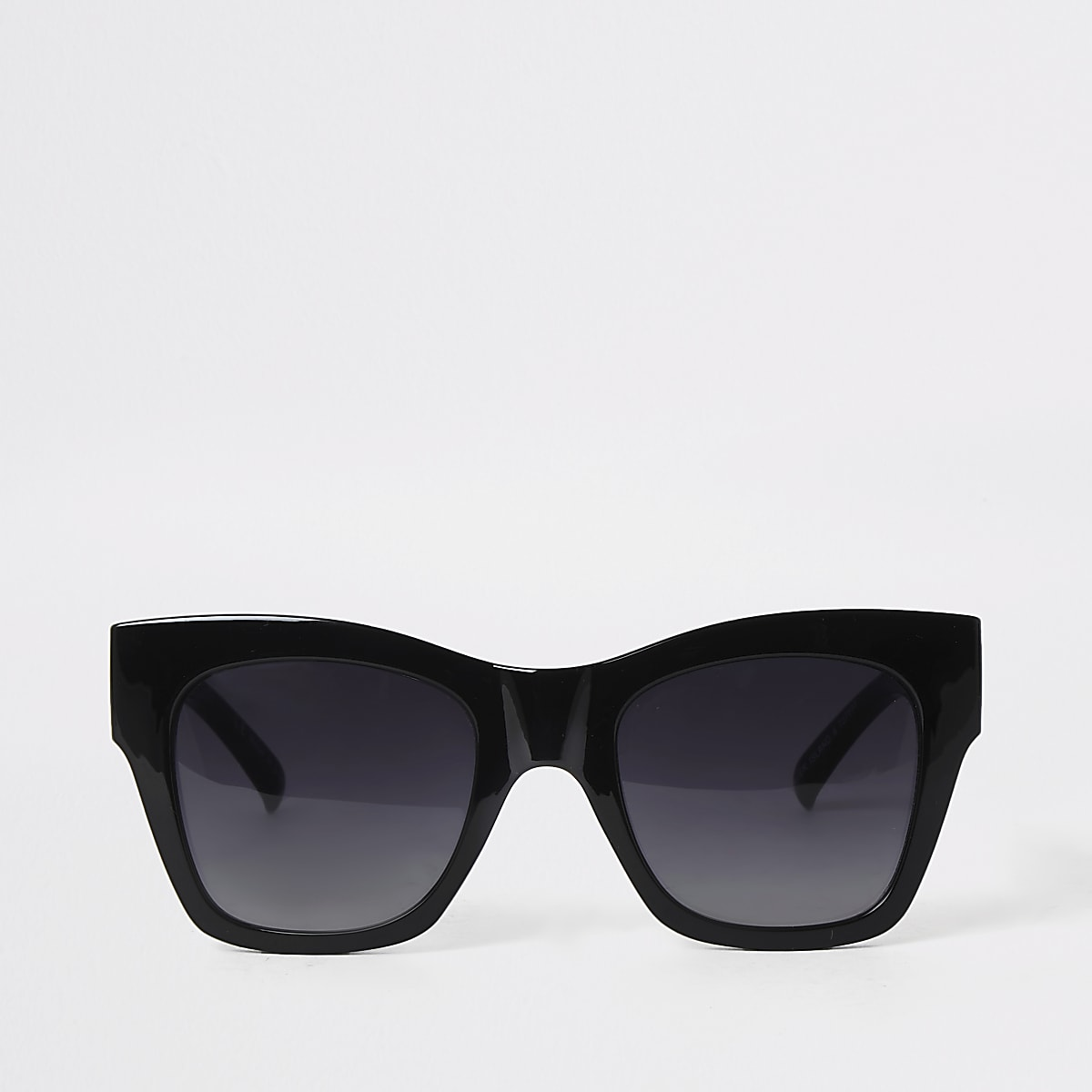 Black gold chain trim oversized sunglasses