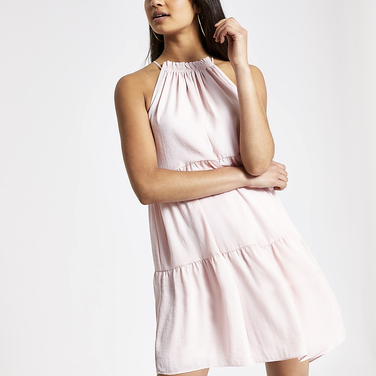 32dc357b08b Pink halter neck swing dress - Slip   Cami Dresses - Dresses - women