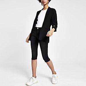 Black RI Amelie super skinny cropped jeans