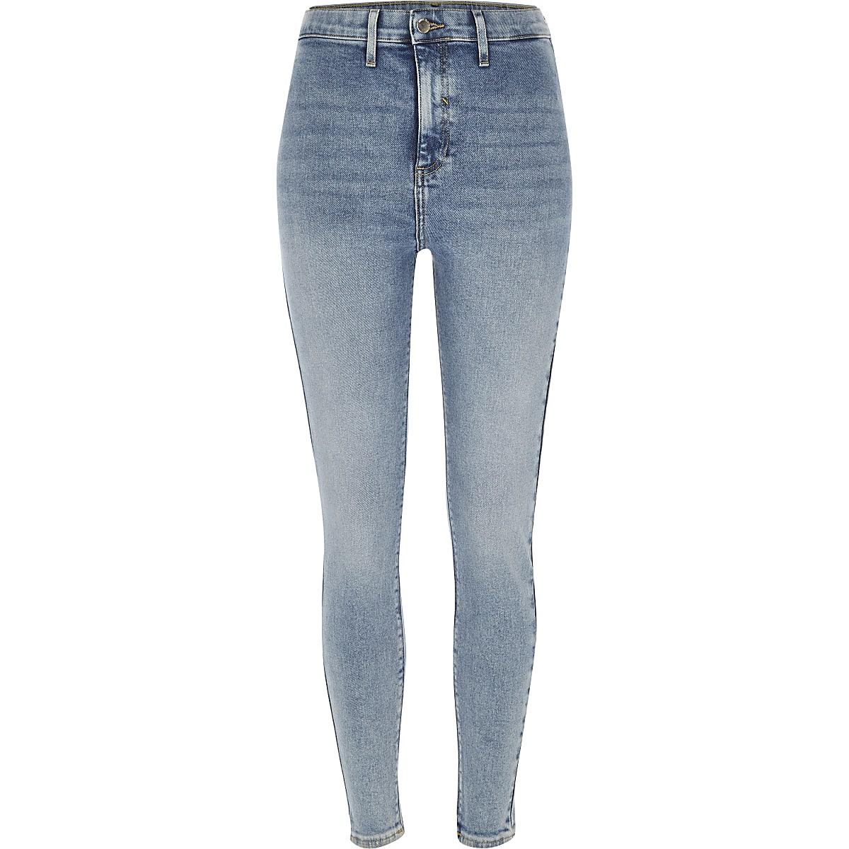 Light blue Kaia high rise disco jeans Irish Consumer River Island