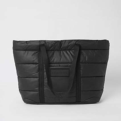 Hunter Originals black padded tote bag