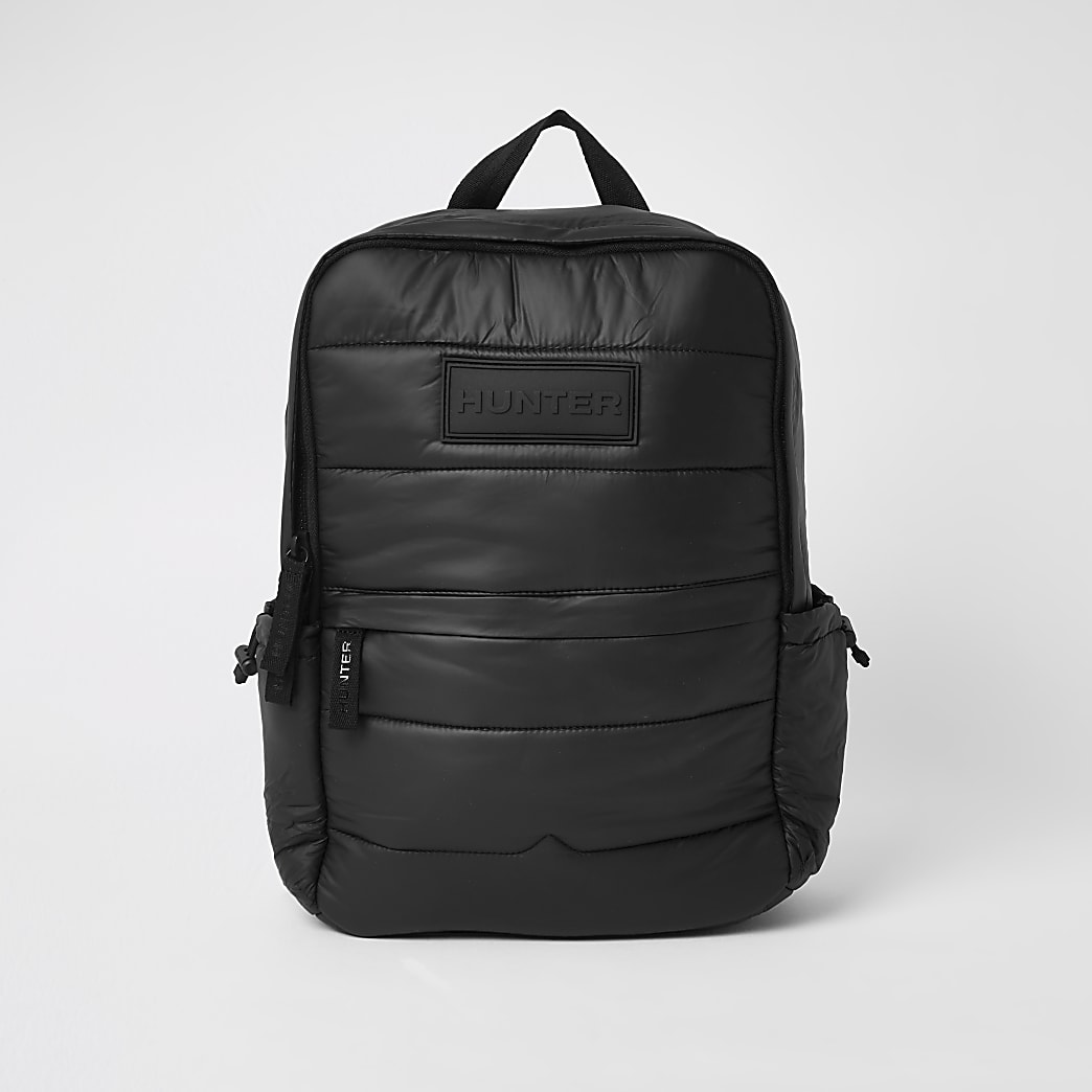 Hunter Originals black padded puffer backpack
