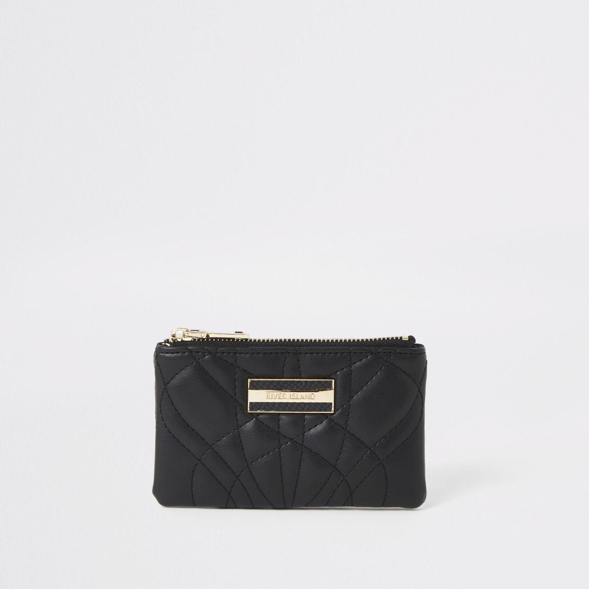 Mini pochette matelassée noire