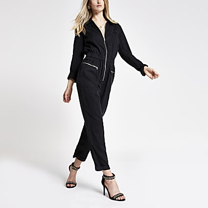 Black utility boilersuit