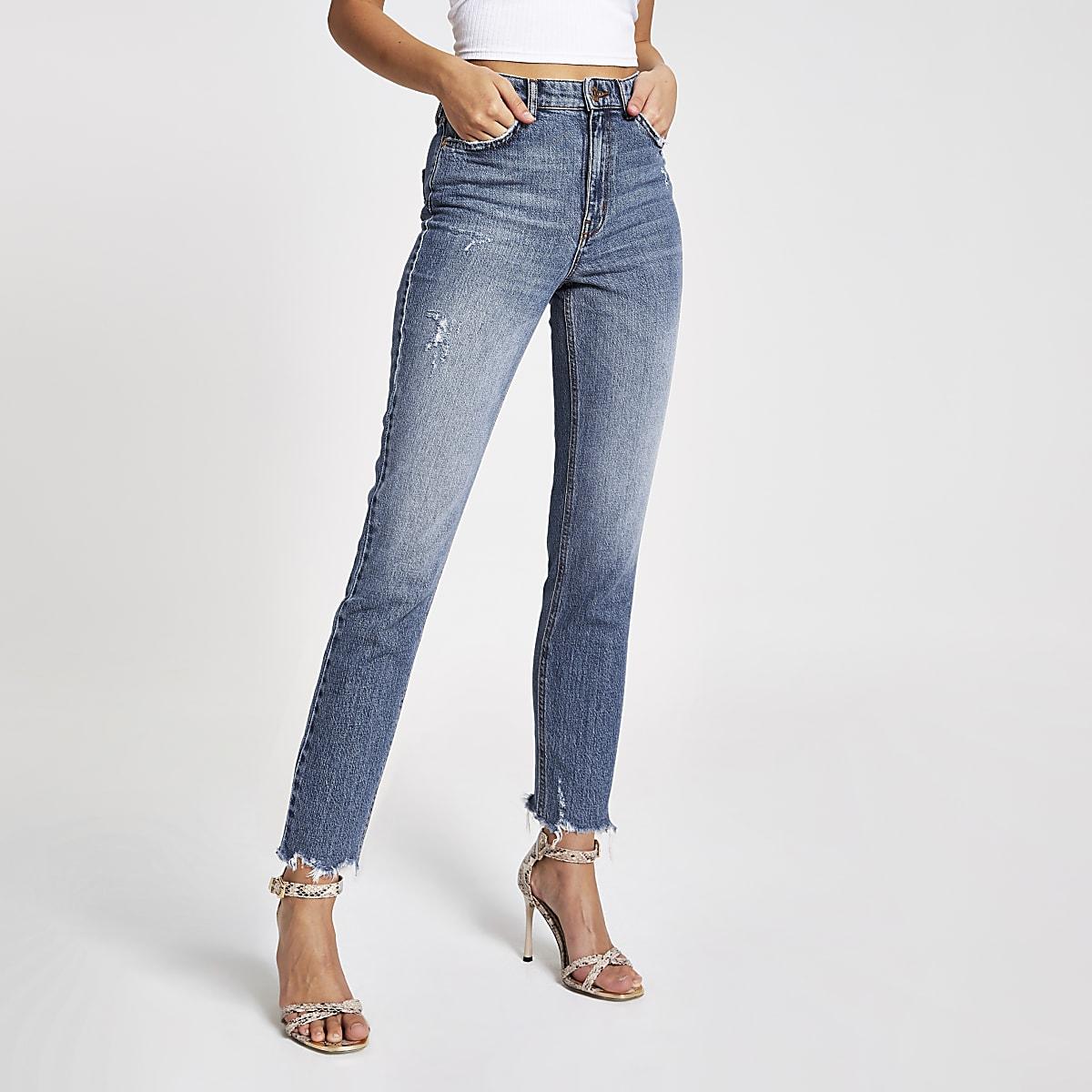 Middenblauwe skinny jeans