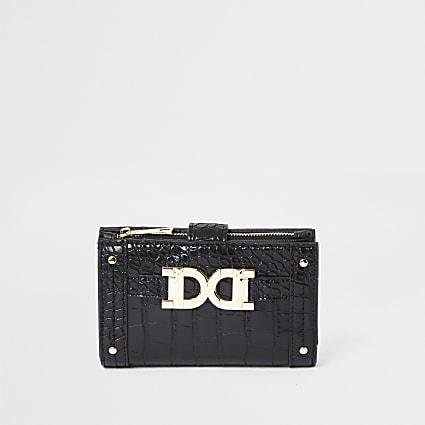 Black gold detail mini fold out purse