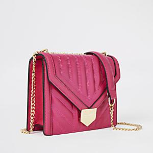Gesteppte Tasche in leuchtendem Pink