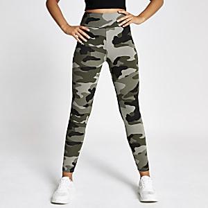 Khaki camo leggings