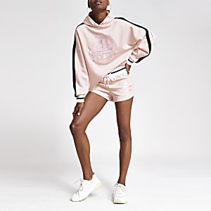 Pink 'Prolific' embroidered hoodie