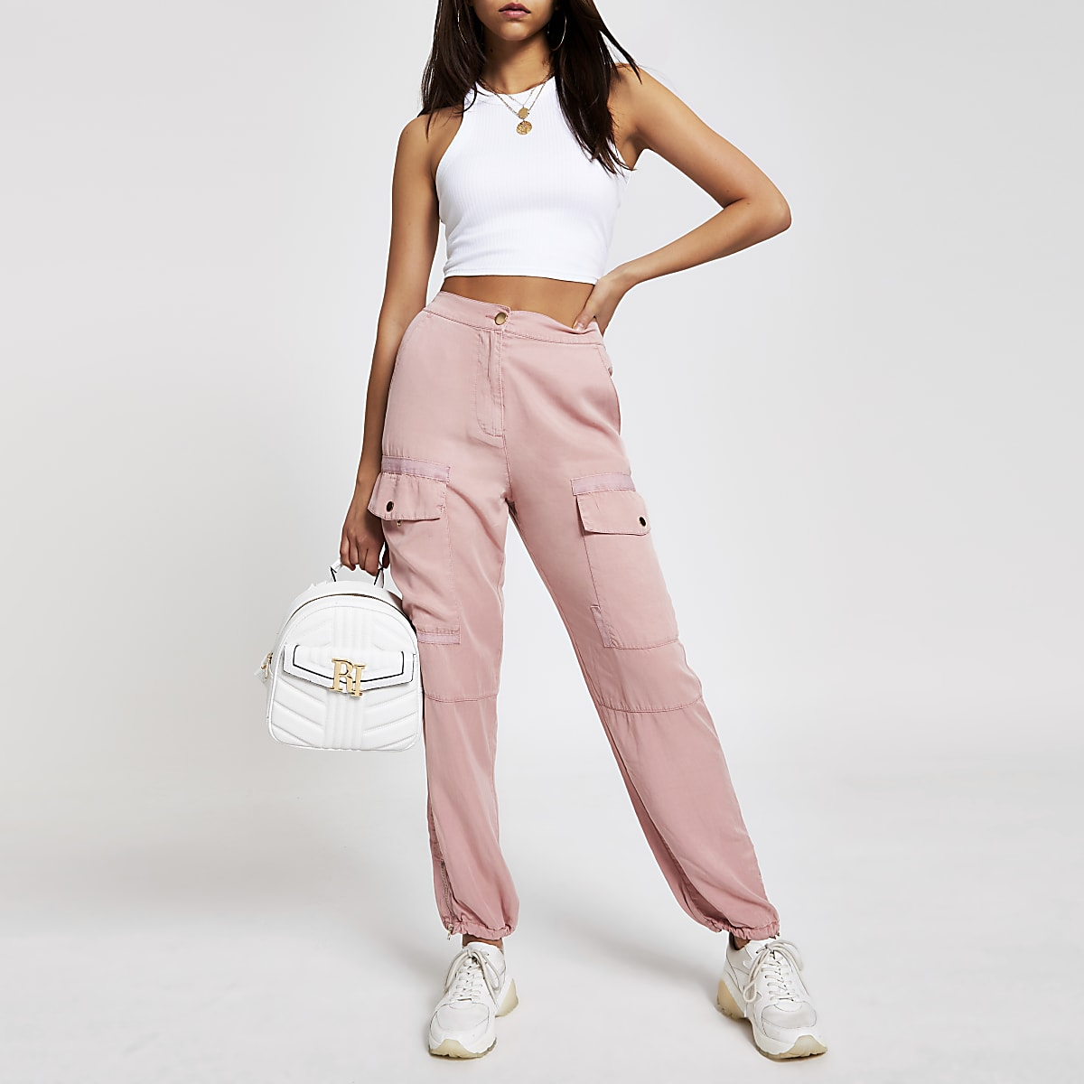 Pink utility trousers