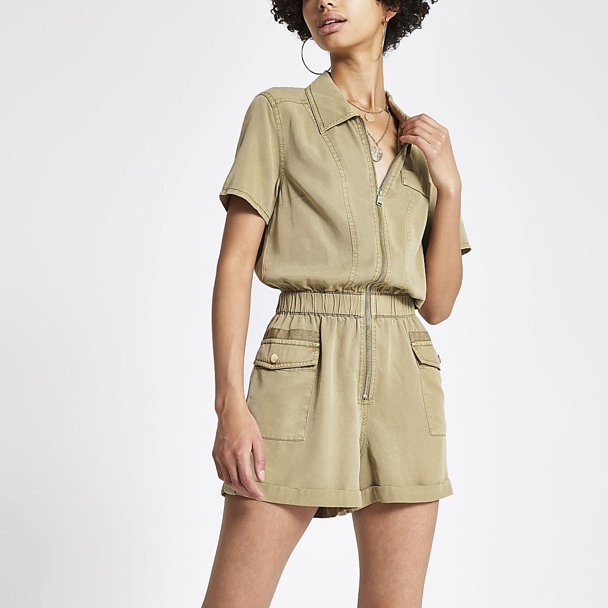 Combi-short fonctionnel beige