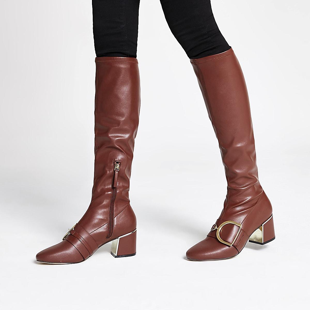 premium selection 383ae bfa9a Burgundy knee high boots