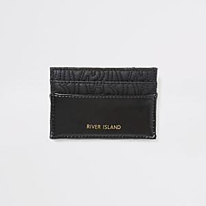 Porte-cartes noir avec logo RI en relief