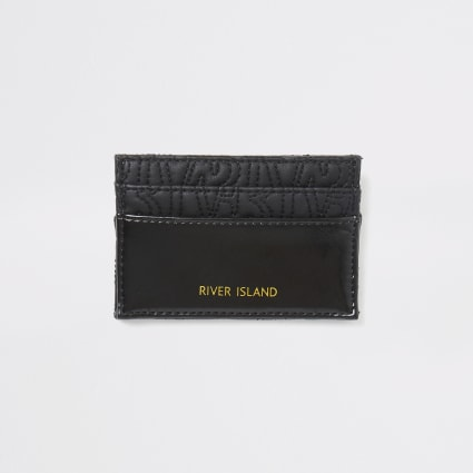 Black RI embossed cardholder