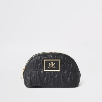 Black RI stitch makeup bag