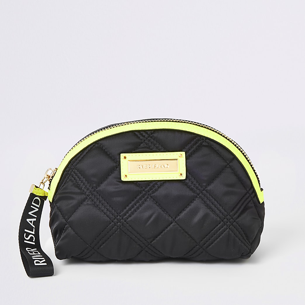 Black neon trim makeup bag