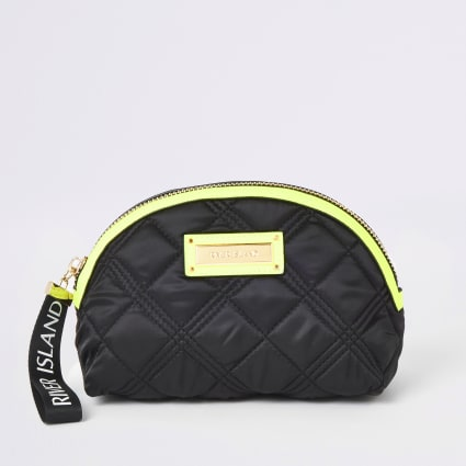 Black neon trim makeup bag