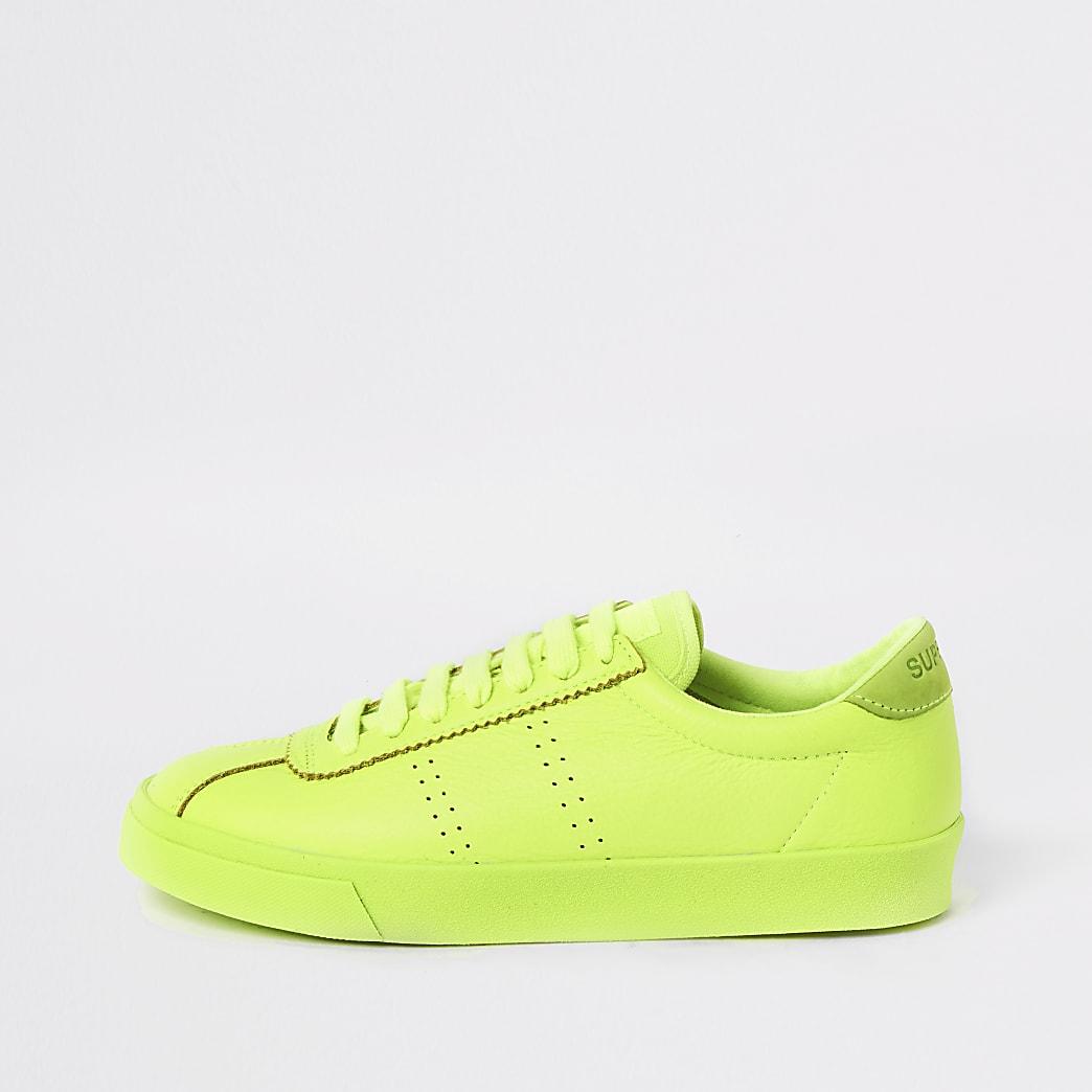 Superga - Baskets de course vert vifà lacets