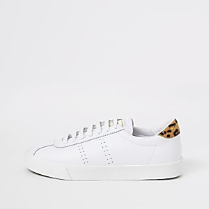 Baskets Superga de course blanches