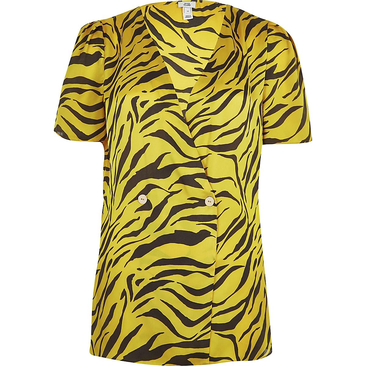 9b97ab42 Yellow zebra print blouse - Blouses - Tops - women