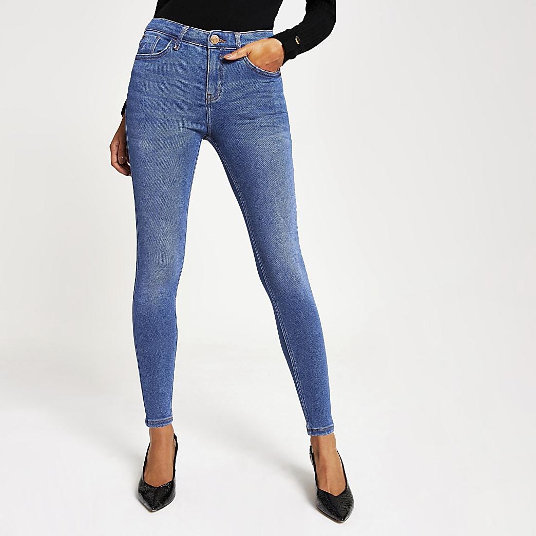 Amelie – Jean skinny bleu vif taille mi-haute