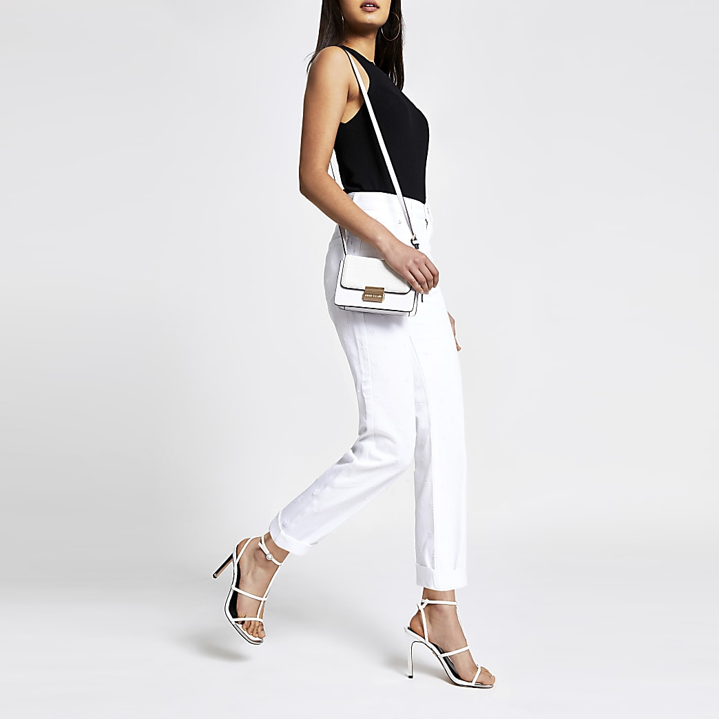 White Mom stitch jeans