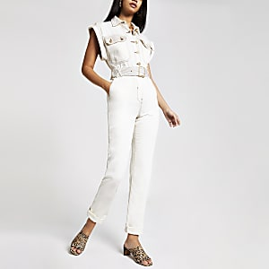 Utility-Overall in Creme