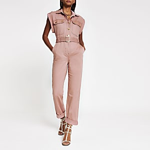 Utility-Overall in Pink