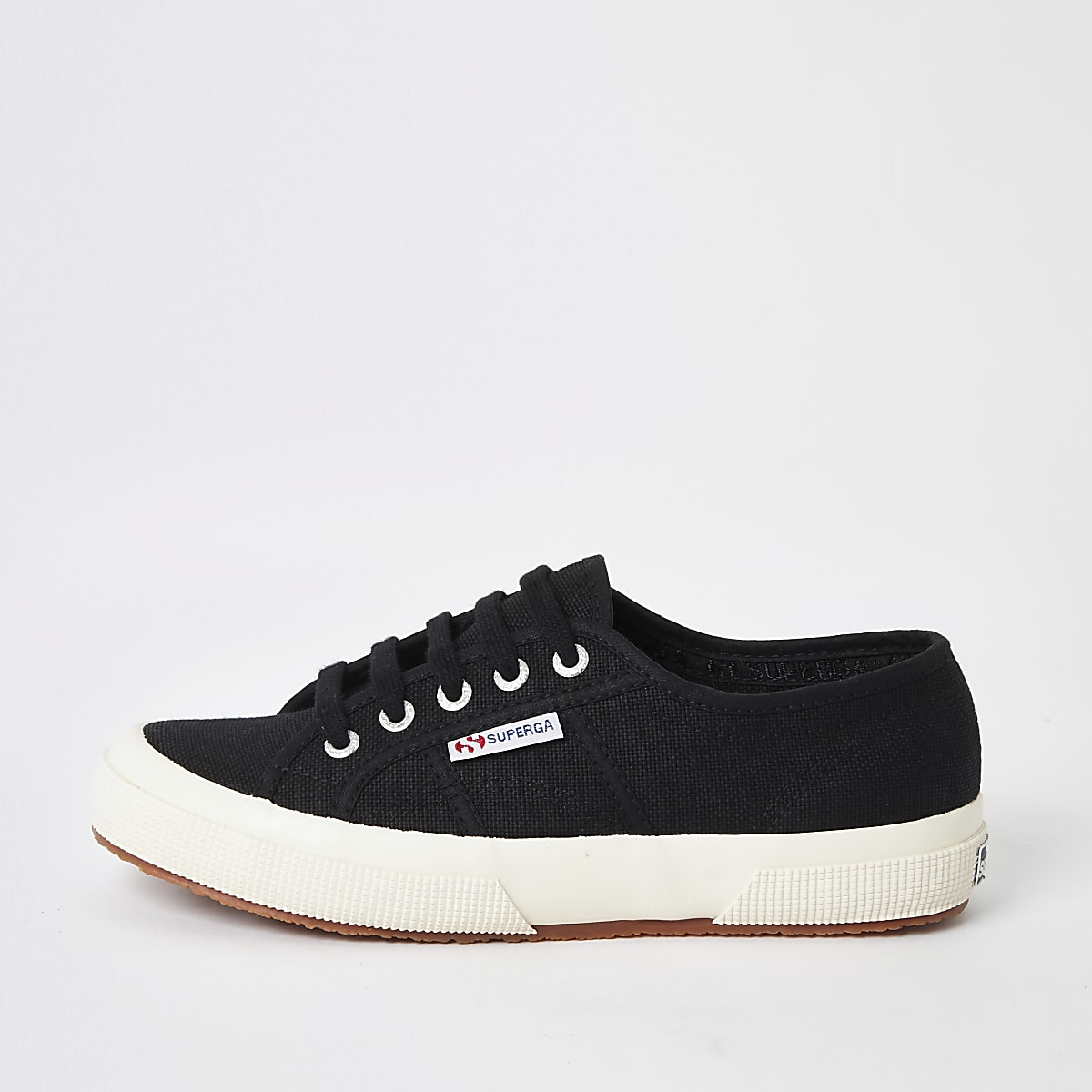 Superga black classic runner trainers