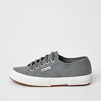 Superga grey classic runner trainers