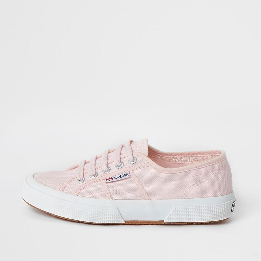 Superga light pink classic runner trainers