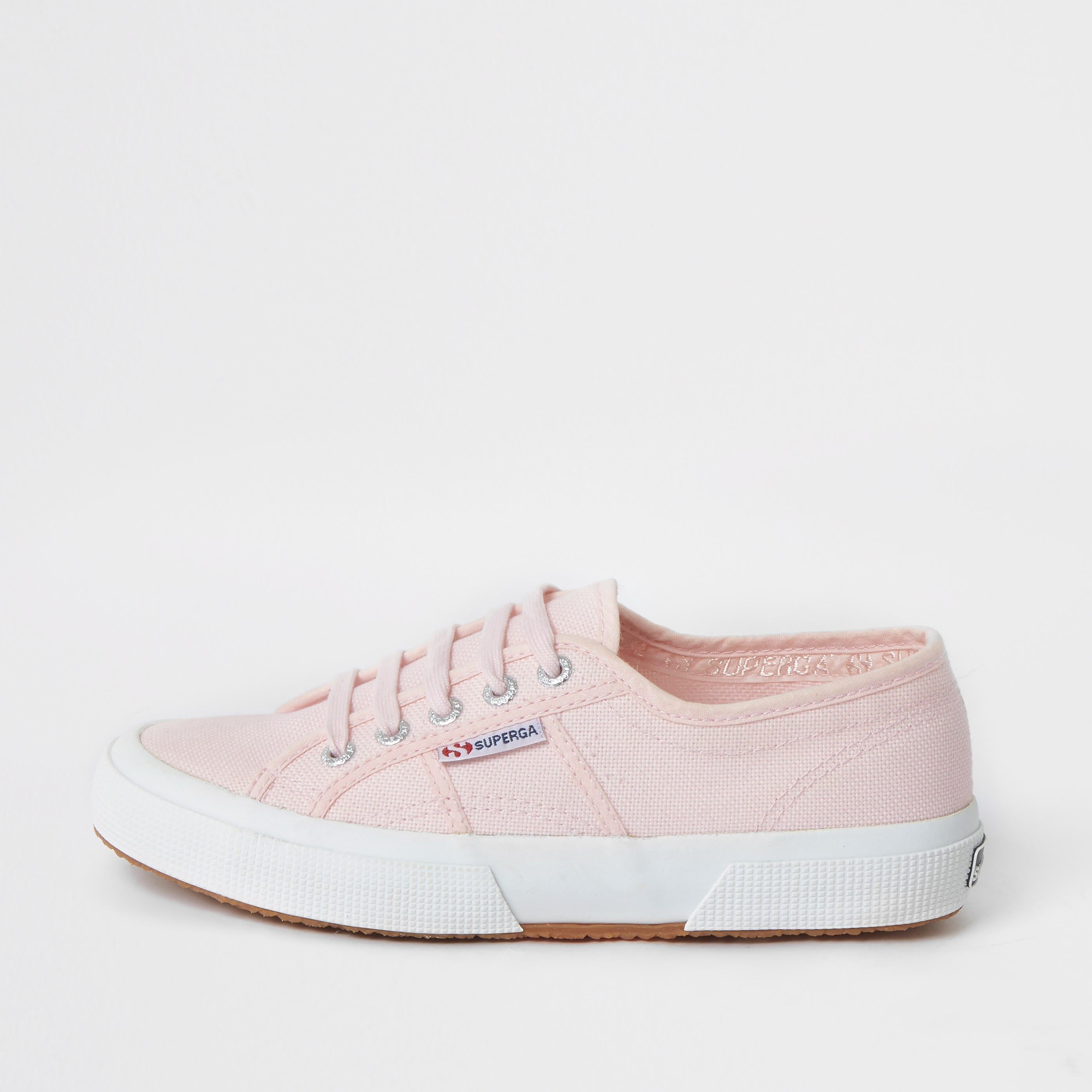 RIVER ISLAND | Womens Superga Light Pink Classic Runner Trainers | Goxip