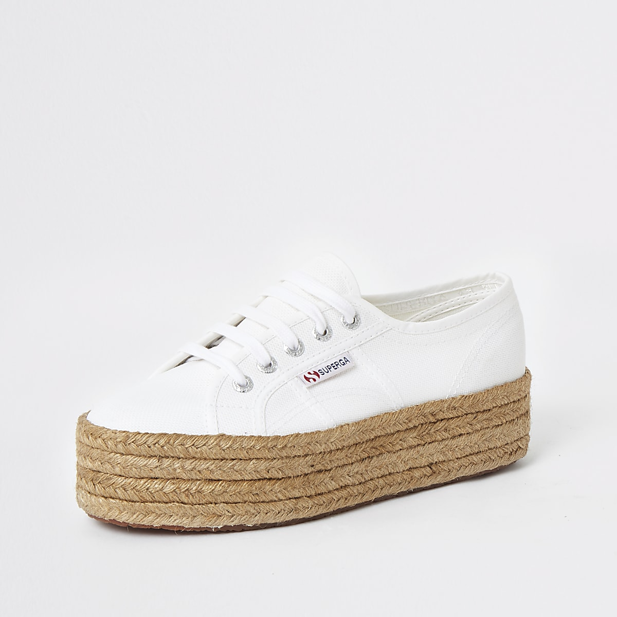 a4b5ebf9d Superga white espadrille runner trainers - Trainers - Shoes & Boots ...