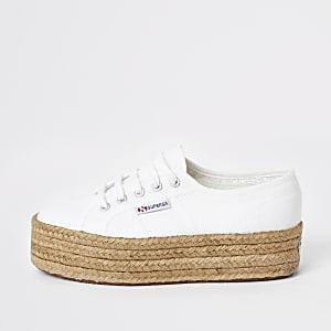Superga – Weiße Laufschuhe
