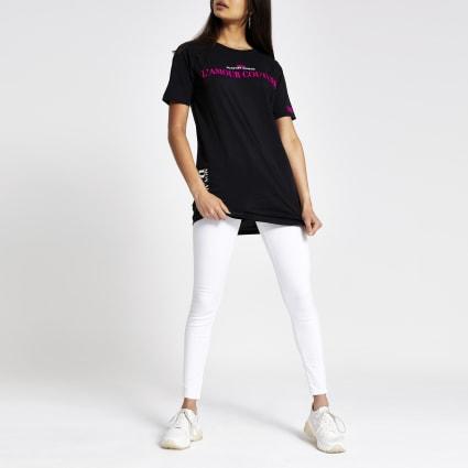 Black neon print jumbo T-shirt
