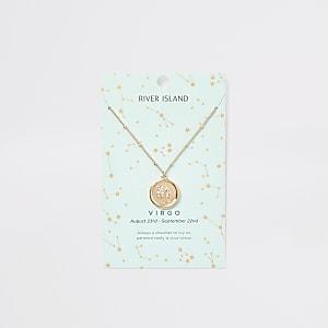 Jungfrau – Sternzeichen-Halskette in Gold