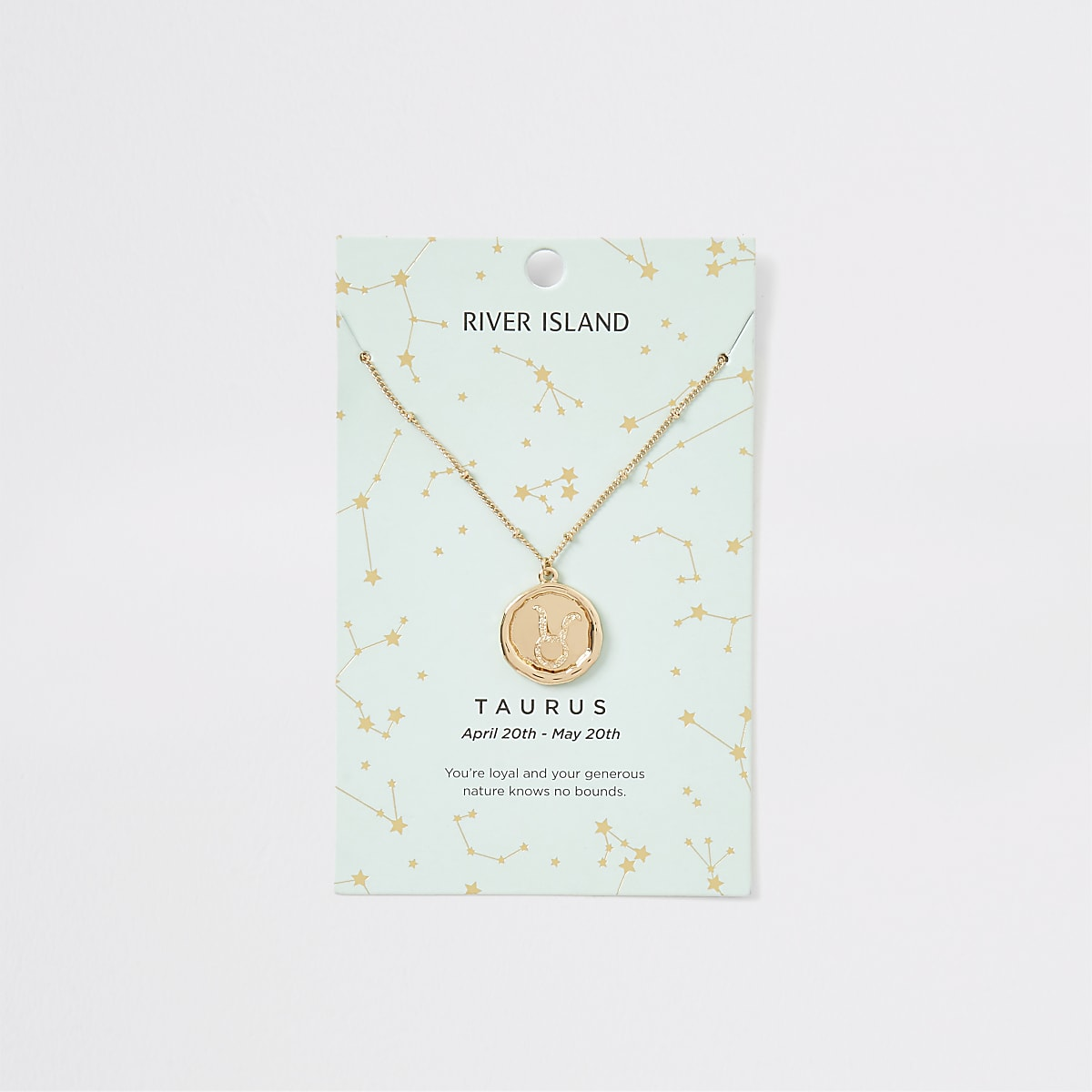 Taurus zodiac sign gold colour necklace