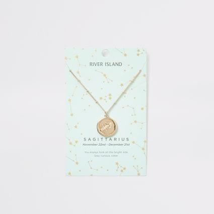 Sagittarius zodiac sign gold colour necklace