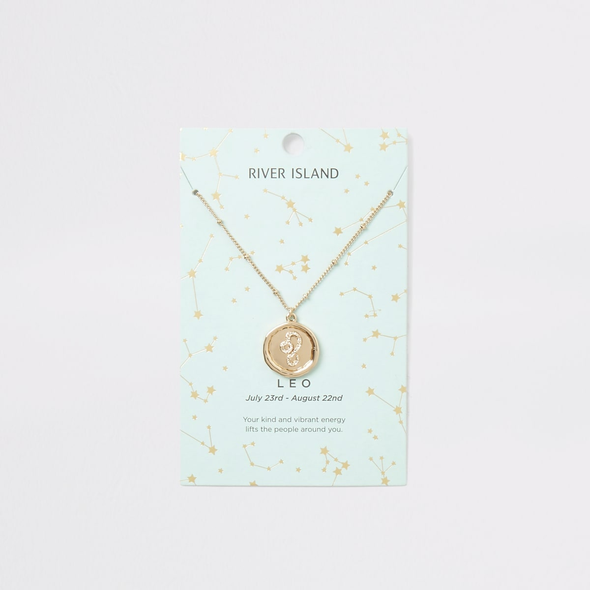 Leo zodiac sign gold colour necklace
