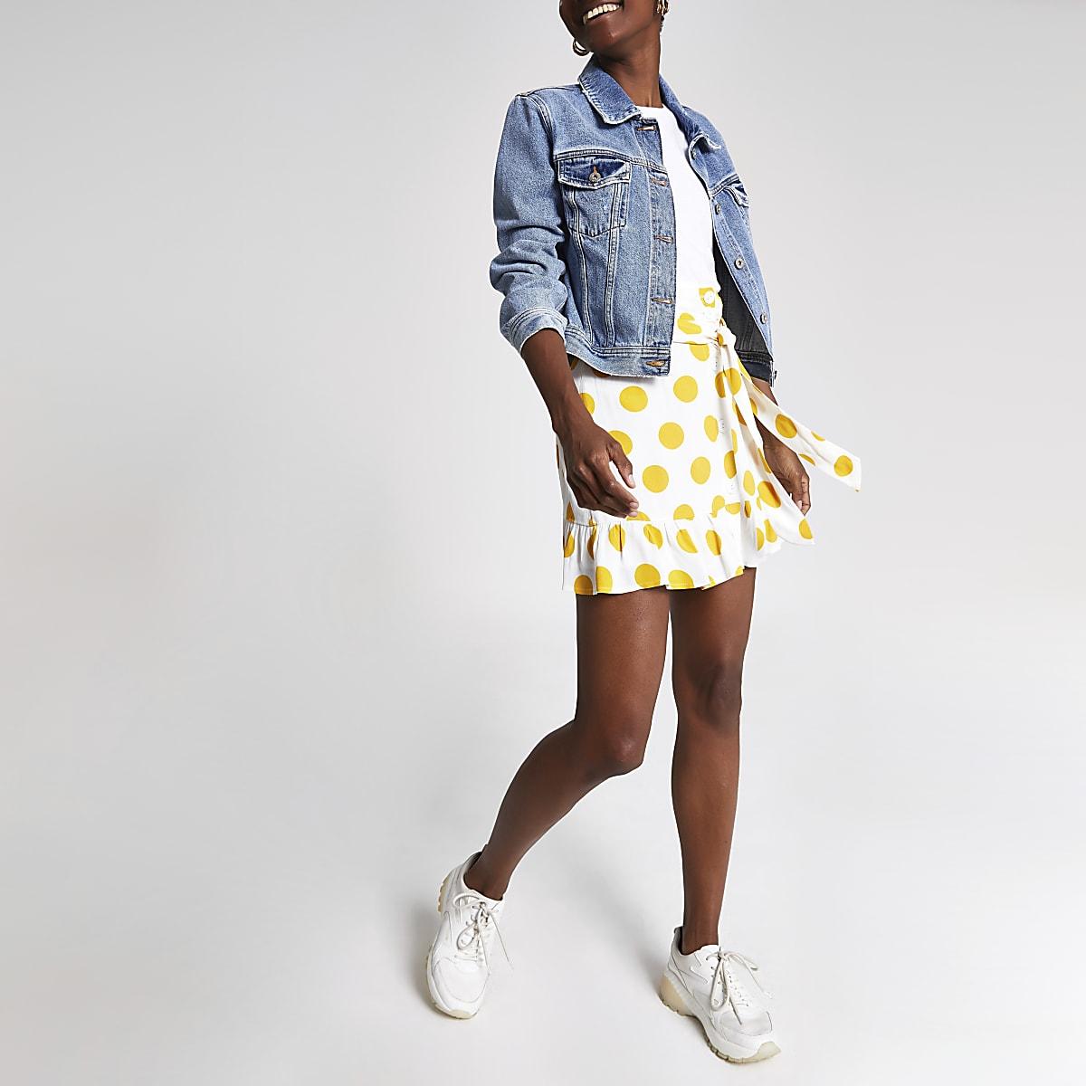 ea5a78af43 White spot print mini skirt - Mini Skirts - Skirts - women