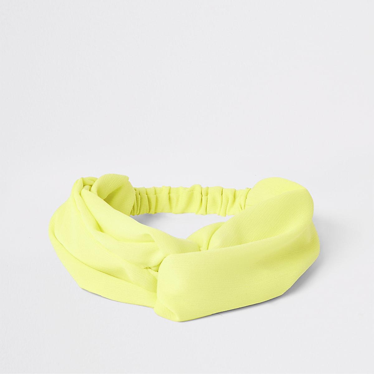 Yellow twist front headband