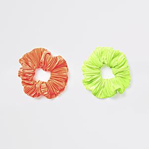Neon scrunchie multipack