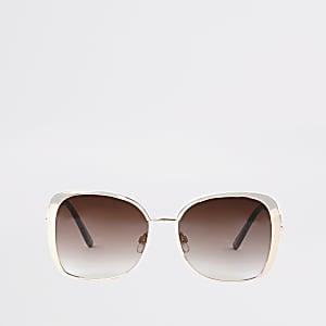 Roségoldfarbene Sonnenbrille