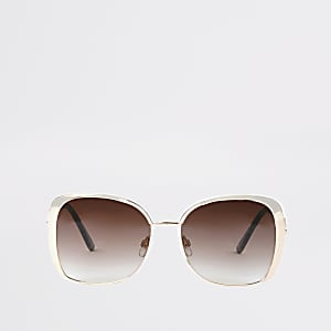 Roségouden zonnebril met roze glazen