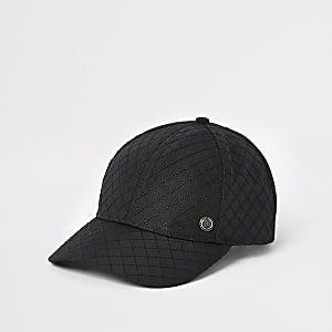 Casquette matelassée noire