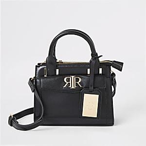9814c658ad7d Black RI mini cross body tote bag