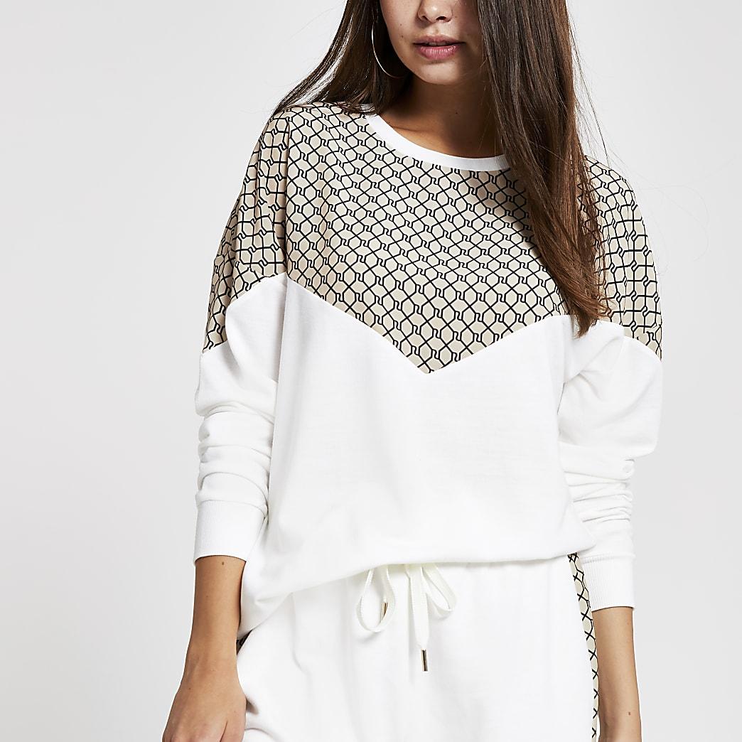 Cream RI chevron sweatshirt