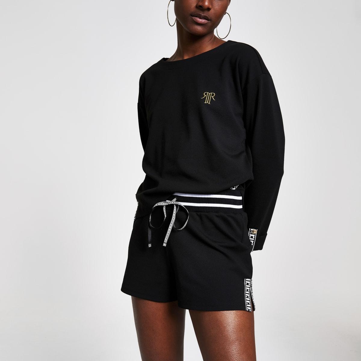 Black RI runner shorts
