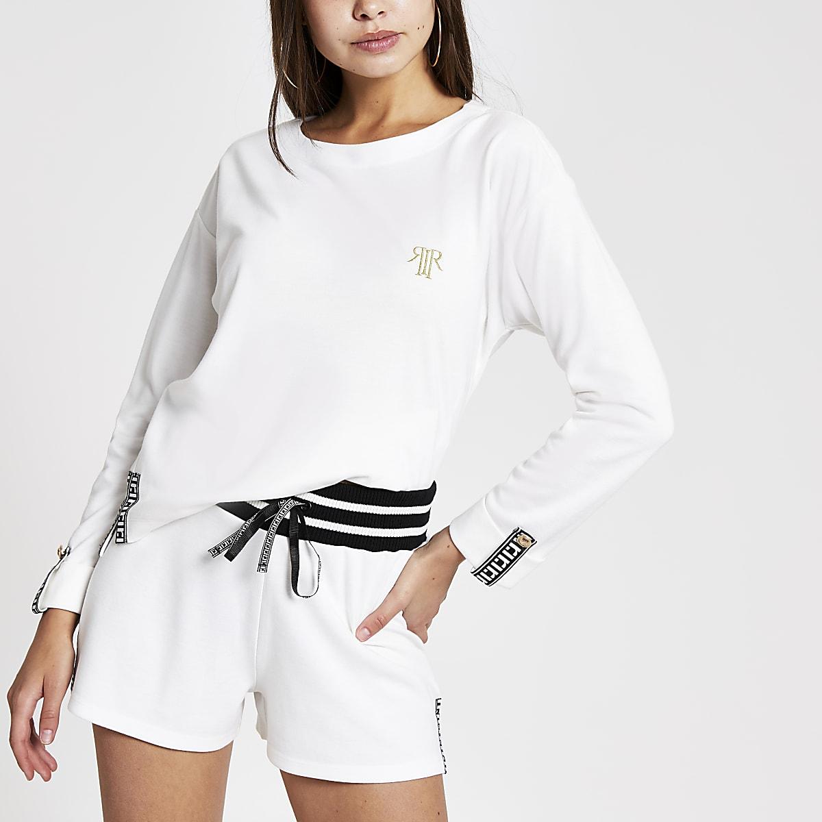 White RI runner shorts